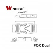 FOX Dual: Side-Release Plastic Buckle (Dimensions)