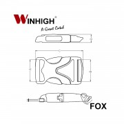 FOX: Side-Release Plastic Buckle (Dimensions)