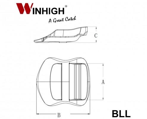BLL Plastic Ladderlock Component (Dimmensions)