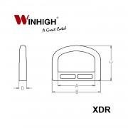 XDR D-Ring Plastic Component (Dimensions)