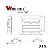 XTG Triglide Plastic Component (Dimmensions)
