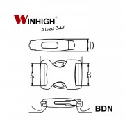 BDN Bondi Plastic Side-Release Buckle (Dimmensions)