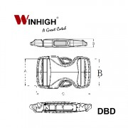 DBD Bondi Dual Plastic Side-Release Buckle (Dimmensions)