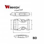 Bondi Plastic Side-Release Buckle (Dimmensions)