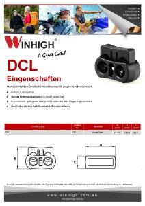 DCL Plastik Zweiloch-Schnurklemmen Spec Sheet (Plastic Cordlock)