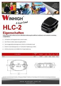 HCL-2 Plastik Cordlock Component Spec Sheet