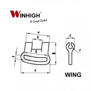 Plastic Wing Component (Dimmensions)