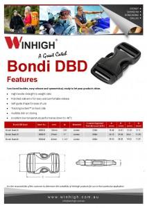BD Dual Plastic Side-Release Bondi Buckle (DBD) Spec Sheet