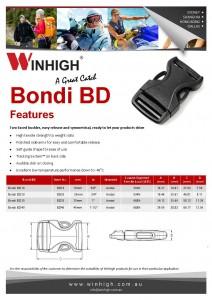 BD Plastic Side-Release Bondi Buckle Spec Sheet
