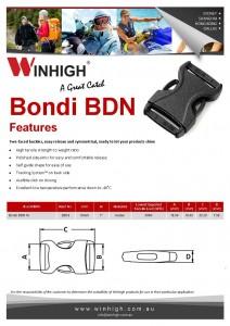 BDN Plastic Side-Release Bondi Buckle Spec Sheet