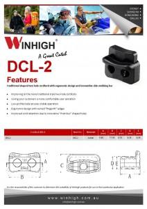 DCL-2 Plastic Two-Hole Cordlock Spec Sheet