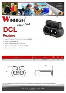 DCL Plastic Two-Hole Cordlock Spec Sheet