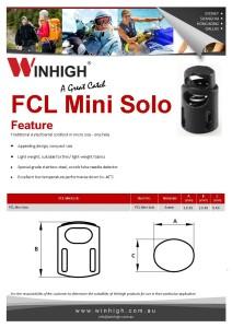 FCL Mini Solo Plastic Cordlock Spec Sheet