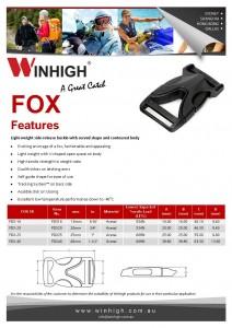 FOX Plastic Side-Release Buckle Spec Sheet