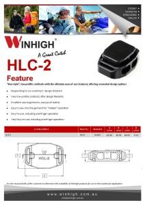 HCL-2 Plastic Cordlock Spec Sheet