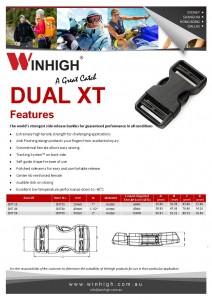 XT Dual Plastic Side-Release Buckle (DXT) Spec Sheet