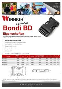 BD Bondi Kunststoffschnalle Spec Sheet Plastic Side-Release Buckle