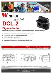 DCL-2 Plastik Zweiloch-Schnurklemmen Spec Sheet (Plastic Cordlock)