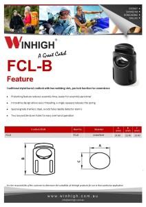 FCL-B Plastic Cordlock Spec Sheet