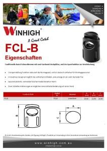 FCL-B Plastik Cordlock Spec Sheet