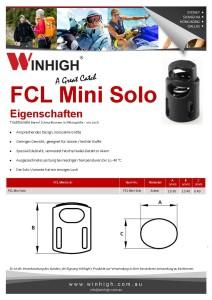 FCL Mini Solo Plastik Cordlock Components Spec Sheet