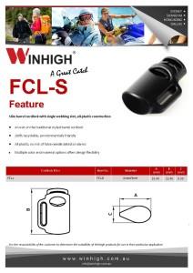 FCL-S Plastic Cordlock Spec Sheet