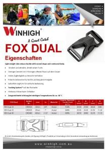 FOX Dual Kunststoffschnalle Spec Sheet Plastic Side-Release Buckle