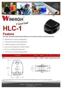 HCL-1 Plastic Cordlock Spec Sheet