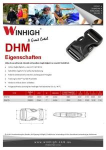 HM Dual Kunststoffschnalle Spec Sheet Plastic Side-Release Buckle (DHM)