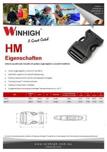 HM Kunststoffschnalle Spec Sheet Plastic Side-Release Buckle