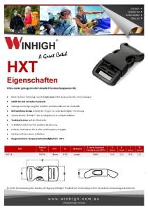 HXT Gebogene Kunststoffschnalle Spec Sheet Plastic Side-Release Buckle