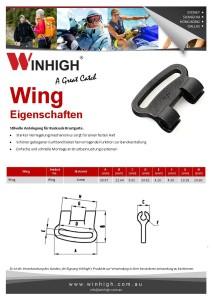 Plastik Wing Komponente Spec Sheet