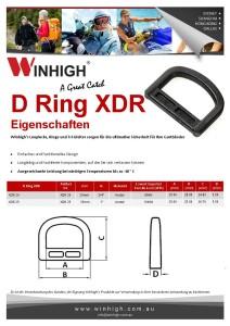 XDR Plastik D-Ring Spec Sheet