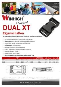 XT Dual Kunststoffschnalle Spec Sheet (DXT) Plastik Side-Release Buckle